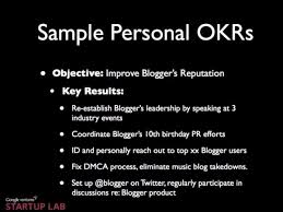 how to write objectives for a research paper google s ranking system okr business insider sample okr