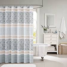Gray Paisley Shower Curtain by Amazon Com Madison Park Mp70 2493 Dawn Cotton Shower Curtain