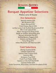 menu roman bistro