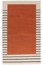 suzanne flat weave rug rust aelfie