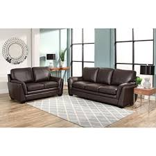 Top Grain Leather Living Room Set by Abbyson London Top Grain Leather 2 Piece Living Room Set Free