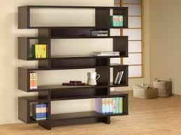elegant criss cross bookshelf design in zen inspired interior