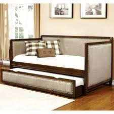 classic nailhead trim design upholstered twin daybed with trundle