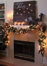 christmas garland with lights fireplace christmas garland 4 with lights and candles founterior