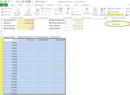 one way data table excel excel one way data table two variable data table excel mac