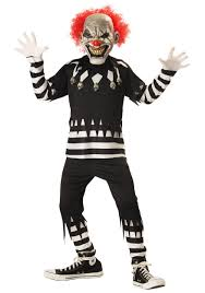 Halloween Costumes Jester Kids Psycho Clown Costume