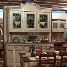 buffet de cuisine en bois buffet vaisselier de cuisine 2 corps bois et laque anna2