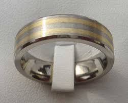 titanium wedding rings titanium wedding ring with inlaid gold online in the uk