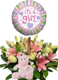 hospital balloon delivery abc flowers fitzroy melbourne a032 brunswick new born baby girl