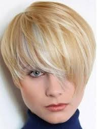 hairstyles short on an angle towards face and back lots of angles in this short style great for a rounded face