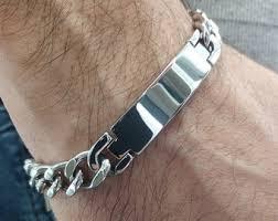 name link bracelet images Mens steel bracelet etsy jpg