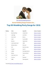 wedding songs top 50 wedding songs for 2011