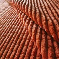 pale orange colour soft corduroy brick effect upholstery fabric