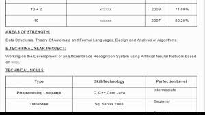 Sample Resume Format For Final Year Engineering Students by Software Development Engineer Sample Resume Youtube