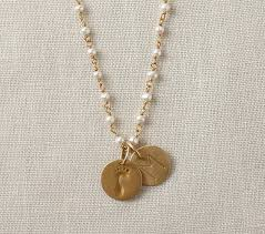 gold necklace with charm images Gold pearl chain charm necklace pottery barn kids jpg