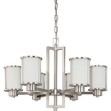 Kichler Lighting Com by Nuvo 60 2853 6 Light Chandelier In Brushed Nickel Finish Odeon
