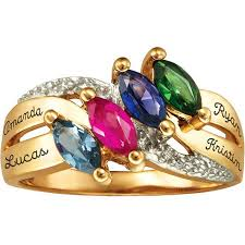 mothers day rings with names personalized keepsake lustre s birthstone ring walmart