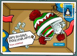 club penguin gift card club penguin happy holidays gift card club penguin pins the