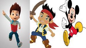 paw patrol jake land pirates mickey mouse