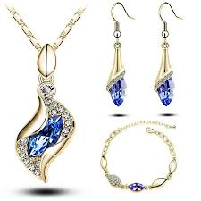 necklace designs with crystals images Luxury colorful austrian crystal jewelry sets designer jewel store jpg