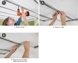 Ceiling Tile Installation Snap In Ceiling Tiles Pranksenders