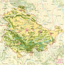 Topographical Map Of Europe by Impressum