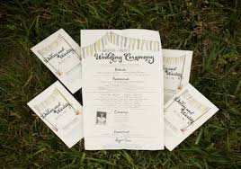 cool wedding programs get with the program why you need wedding programs