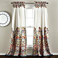 Boho Window Curtains Sirina Boho Moroccan Paisley Floral Window Curtain Panel Set