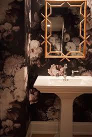 ellie cashman dark floral wallpaper bathrooms pinterest
