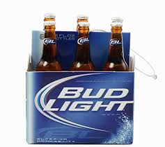 amazon com kurt adler budweiser bud light six pack miniature