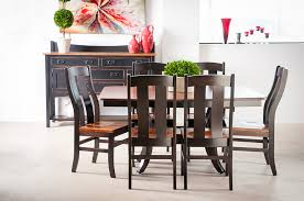 Black Wooden Dining Table And Chairs Dining Room Sets Lafayette In Gibson Furniture