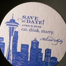 save the date coasters custom letterpress coasters from figura