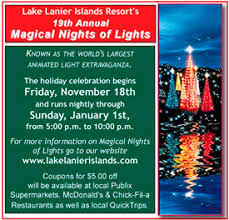 lake lanier islands lights coupon coupons for lake lanier magical nights of lights couriers please