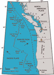 physical map of oregon juan de fuca plate the well known san andreas fault line runs right through pinnacles