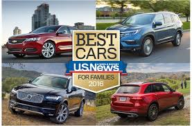 2016 best cars for families u s news world report