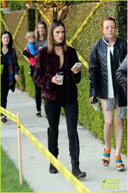 alessandra ambrosio wears bunny ears while trick or treating with