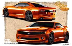 burnt orange camaro rick bottom designs 2010 camaro sema bound
