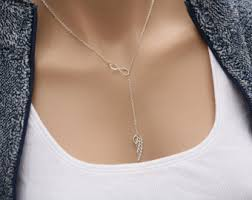 fashion jewelry silver necklace images Lariat y necklaces etsy jpg