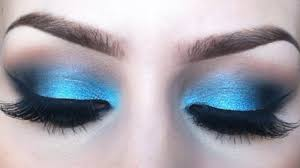 vibrant blue eyeshadow tutorial l sigma resort inspired look you