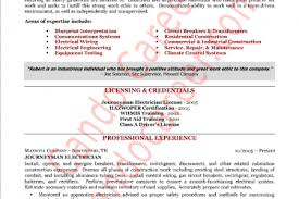 Electrician Resume Examples by Journeyman Resume Reentrycorps