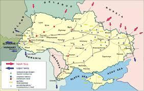 Map Ukraine East European Gas Analysis Ukrainian Gas Pipelines