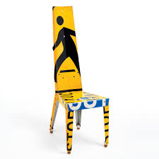 Yellow Chair Transit Chair Repurposes Used Aluminum Traffic Signs Designboom Shop