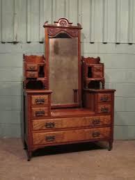 antique late victorian burr walnut dressing table c1890 210843