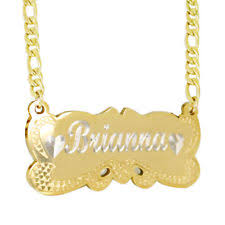 14 karat gold nameplate necklaces 14k gold name plate ebay