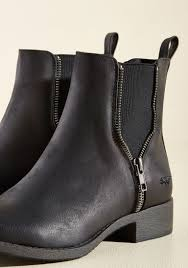 casual motorcycle boots casual influence boot in matte black modcloth