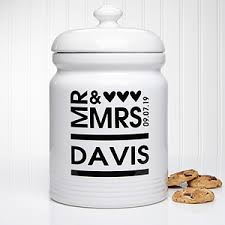personalized cookie jars personalized cookie jars mr and mrs
