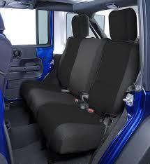 custom jeep seats coverking custom rear seat covers for 08 10 jeep wrangler