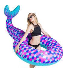 amazon com bigmouth inc giant mermaid tail pool float toys u0026 games