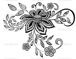 simple black and white flower beautiful black and white floral