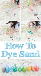 color dye beach sand tutorial learn dye sand